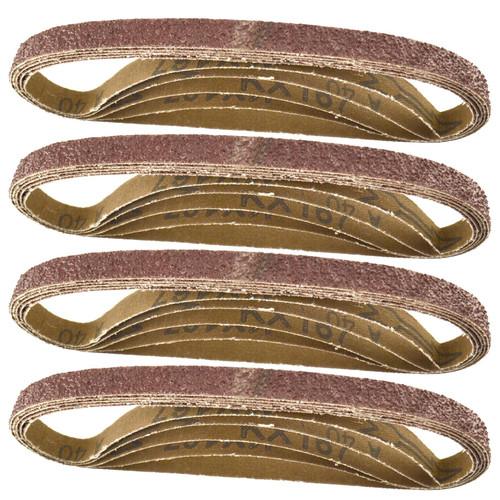 Belt Power Finger File Sander Abrasive Sanding Belts 457mm x 13mm 40 Grit 20 PK
