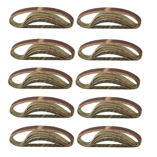 Belt Power Finger File Sander Abrasive Sanding Belts 330mm x 10mm 80 Grit 50pk
