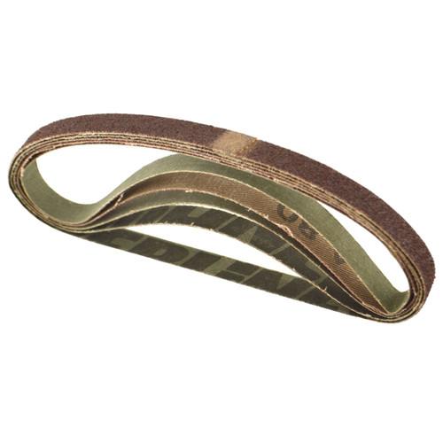 Belt Power Finger File Sander Abrasive Sanding Belts 330mm x 10mm 80 Grit 50pk