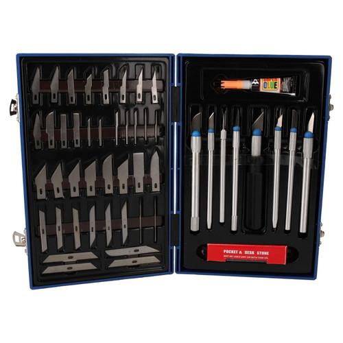 57pc Precision Hobby Blade Cutting Craft Cutters Scalpel Sharp Edge TF019
