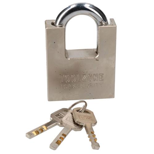 60mm Security Padlock Shed Gate Lock 3 Keys 35mm Shank Brass Core Security