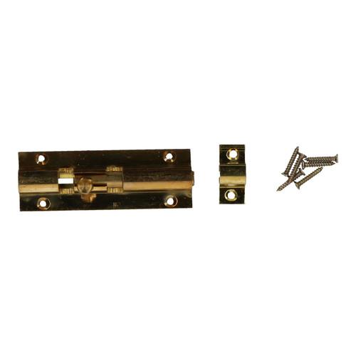 """3"""" Brass Door Bolt Security Door Slide Dead Lock Catch Latch Shed Bathroom"""