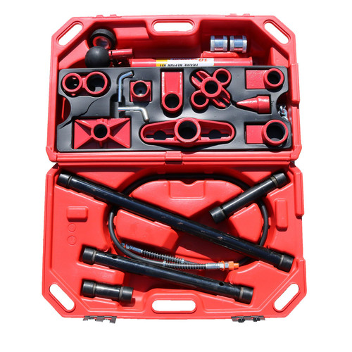 Portable Speicalist Push Ram Vehicle Auto Body Repair Attachment Set 10 Ton