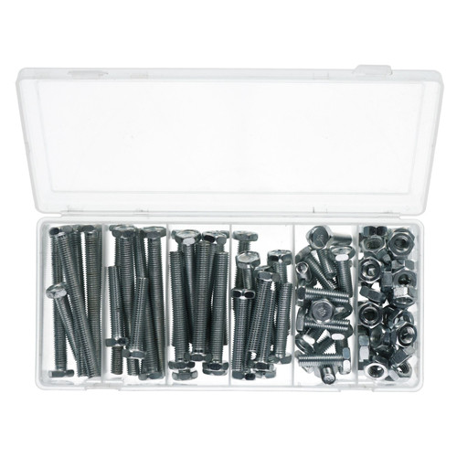 100pc Nut And Bolt Set 10mm Thread (M10 x 1.5) Various Length 30-100mm Bolts