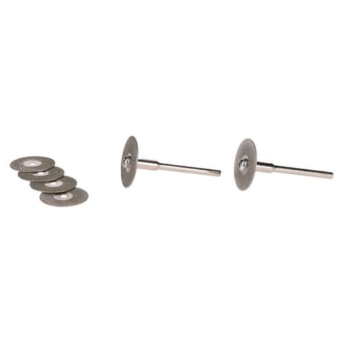 8pc Diamond Tipped Mini Rotary Cutting Discs Cut Off Disc 6 Discs 2 Mandrels