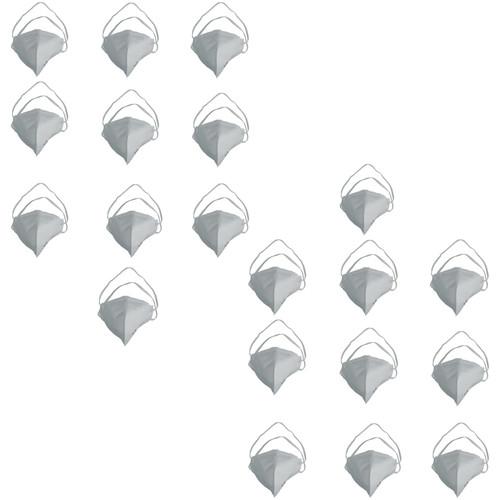 Fold Flat Dust Mask Air Respirator Protection Sealing Lip Adjustable Strap 20pc