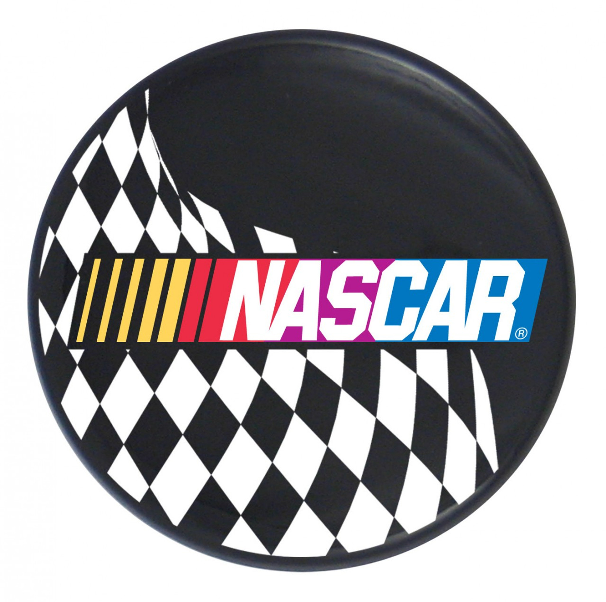 nascar logo w checkered flag on black steering creations inc rh steeringcreations com nascar logo pictures