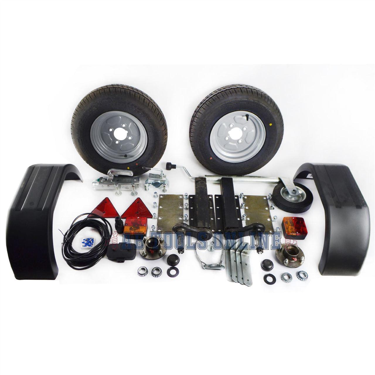 750Kg Trailer Kit Suspension Units Hitch Lights Mudguards Towing 5m ...