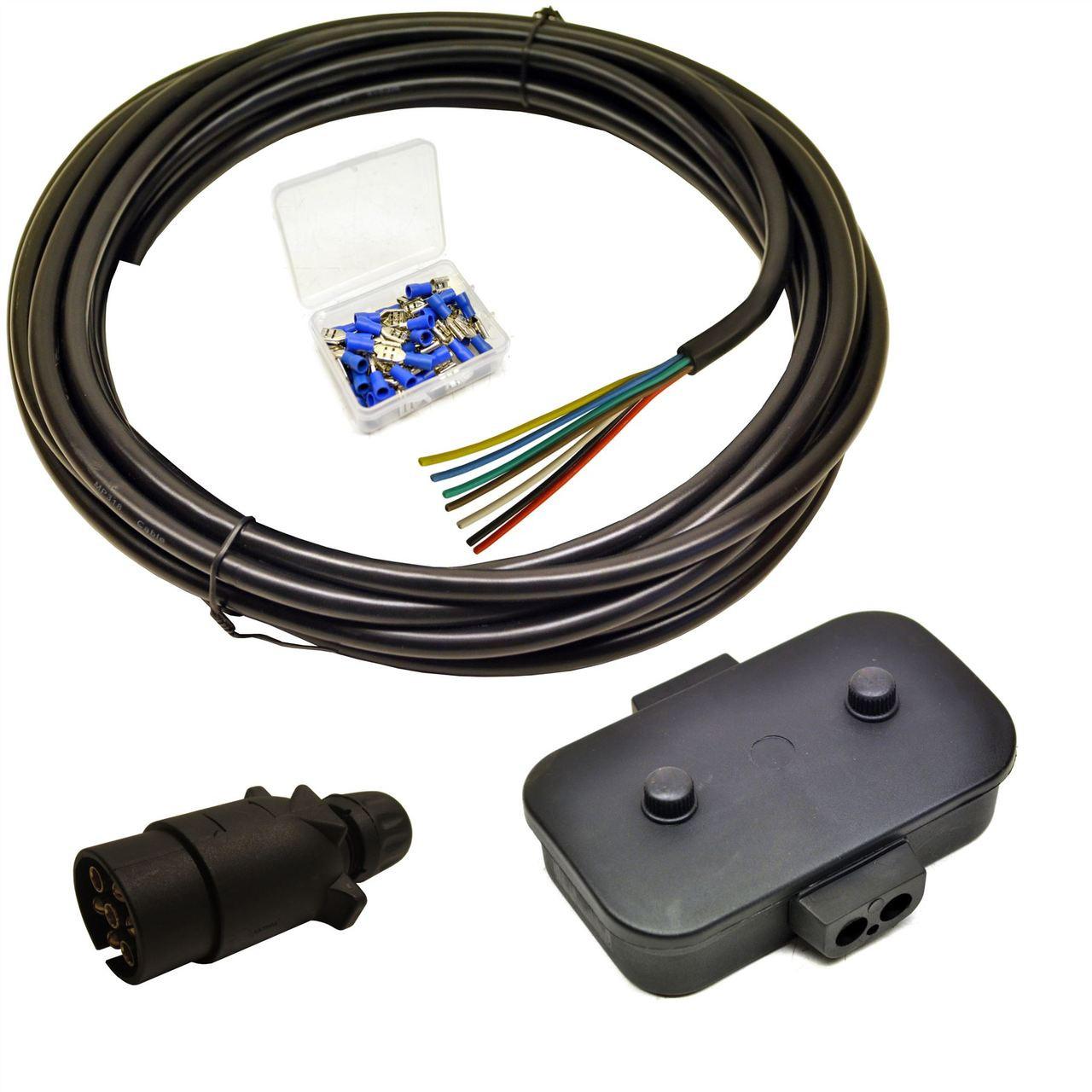 Trailer Light Electrics Rewire Kit Plug, Junction Box, 10m Cable ...