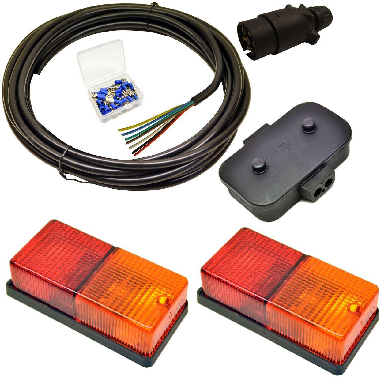 Trailer Light Wiring Kit Medium Lights, Plug, Junction Box, 5m Wire ...