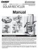 Super Solar Recycler Manual