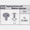 14-5350P14 Tapping Screw With Washer (2.6x6)