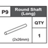 09-68400P9 Round Shaft (Long)