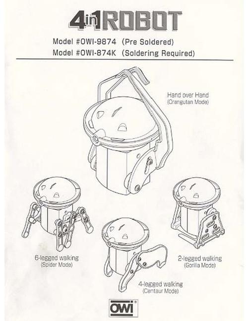 4 in 1 Robot Manual