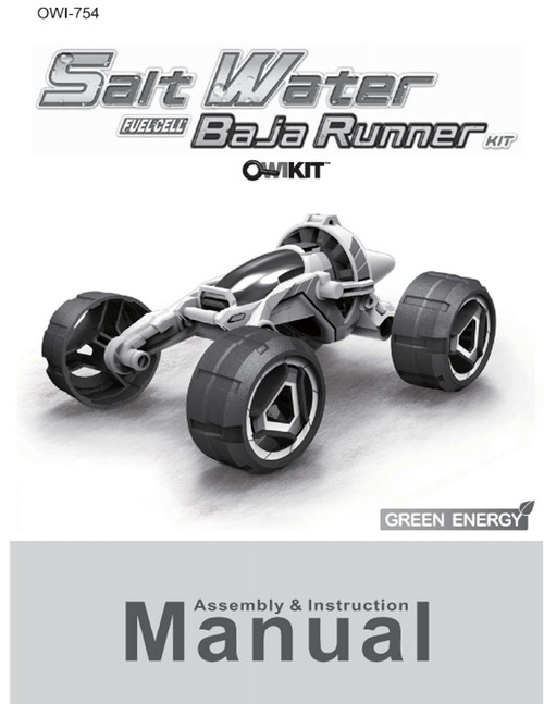 Salt Water Fuel Cell Baja Runner Manual