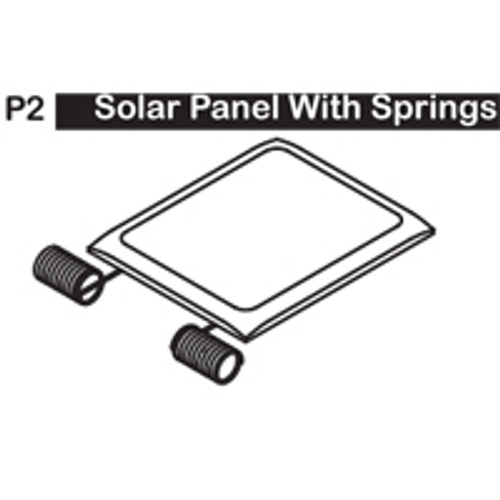 02-6150P2 SOLAR PANEL WITH SPRINGS