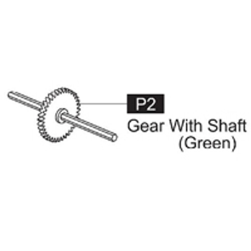 02-61600P2 Gear With Shaft (Green)