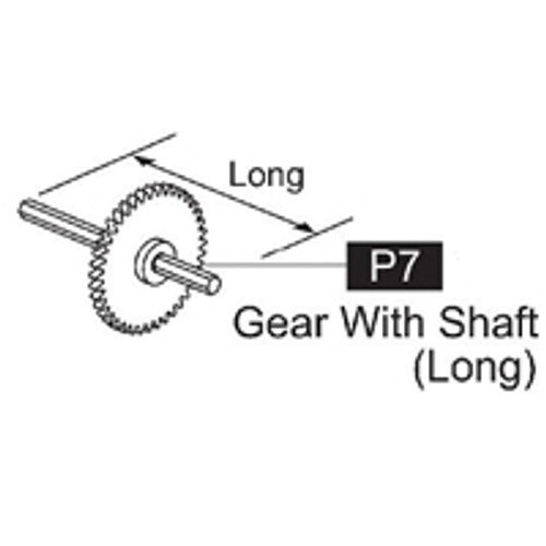 07-61700P7 Gear With Shaft (Long)