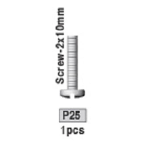 25-3730P25 P25 Screw- 2x10mm