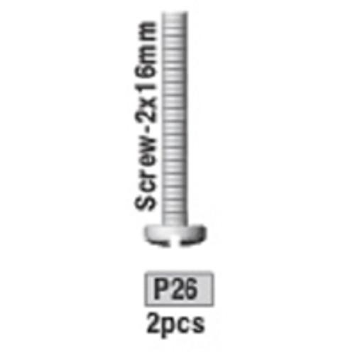 26-3730P26 P26 Screw- 2x16mm