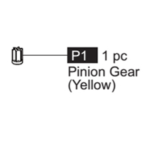 01-64100P1  Pinion Gear (Yellow)