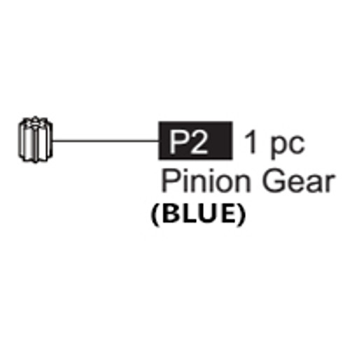 02-64100P2  Pinion Gear (Blue)