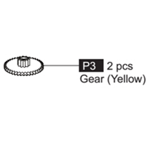 03- 64100P3  Gear (Yellow)