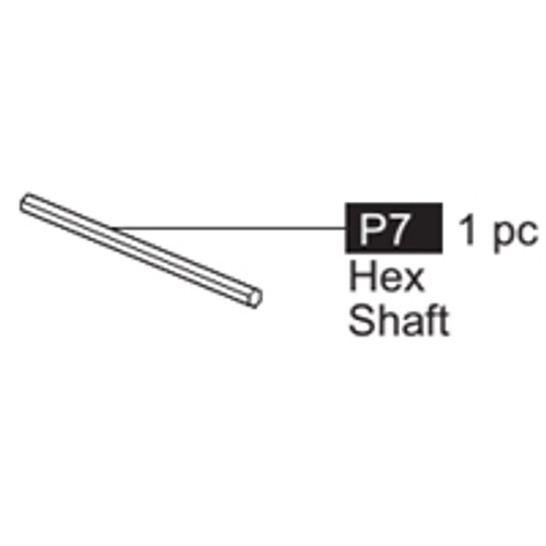 07-64100P7 Hex Shaft