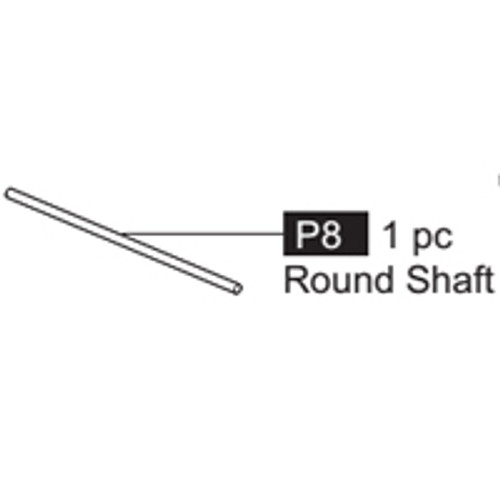 08- 64100P8 Round Shaft (long)