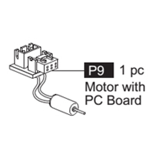 09- 64100P9  Motor with PC Board