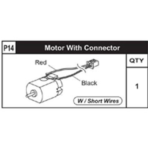 14-89200P14 Motor W/ Connector (Short)