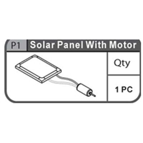 01-66900P1  SOLAR PANEL WITH MOTOR