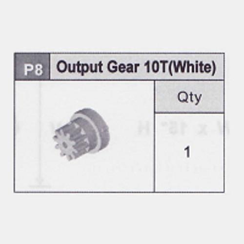 08-Output Gear 10T (White)
