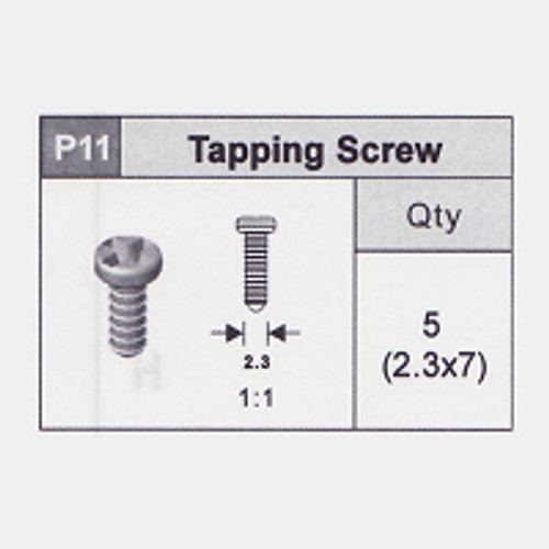 11-5350P11 Tapping Screw (2.3x7)