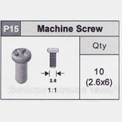 15-5350P15 Machine Screw (2.6x6)