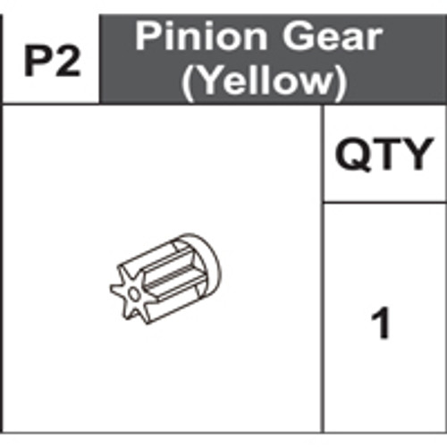 02-75400P2  Pinion Gear (Yellow)