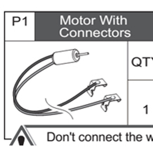 01-75300P1  Motor With Connectors