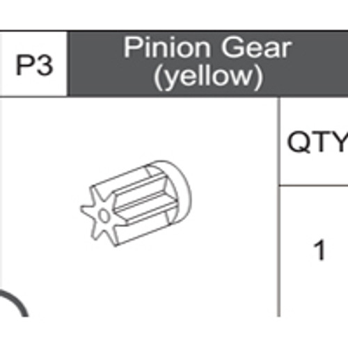 03-75300P3 Pinion Gear (Yellow)