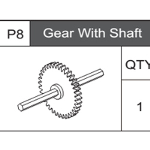 08-75300P8  Gear With Shaft