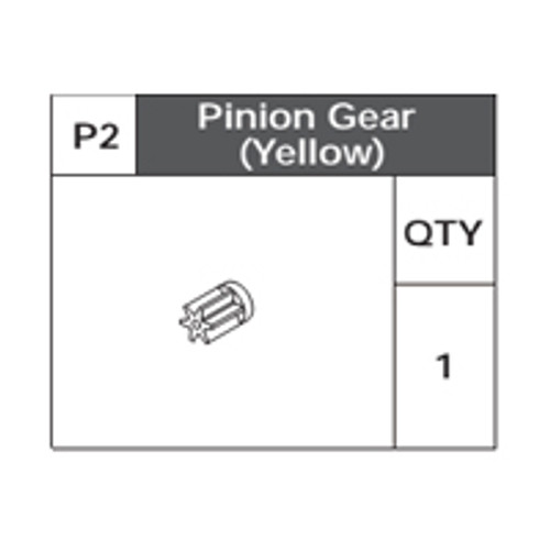 02-75200P2 Pinion Gear (Yellow)