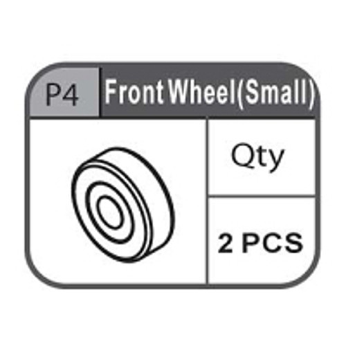 04- 67100P4  FRONT WHEEL (SMALL)