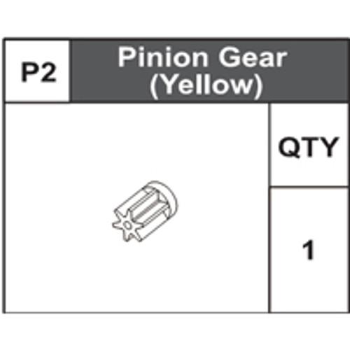 02-75000P2 Pinion Gear (Yellow)