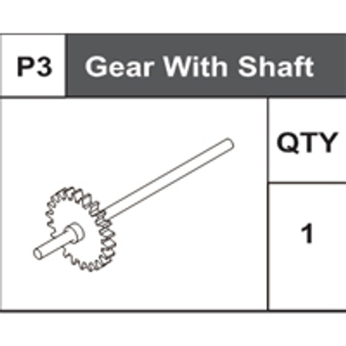 03-75000P3 Gear With Shaft