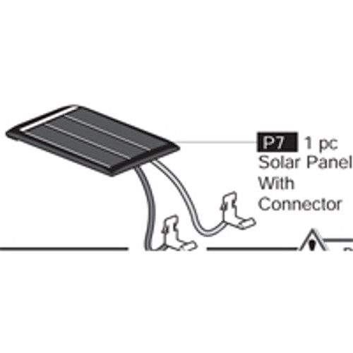 07-69000P7 Solar Panel With Connector