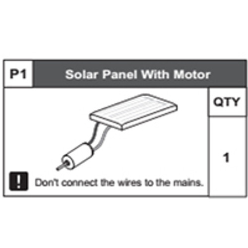 01-68300P1 Solar Panel With Motor