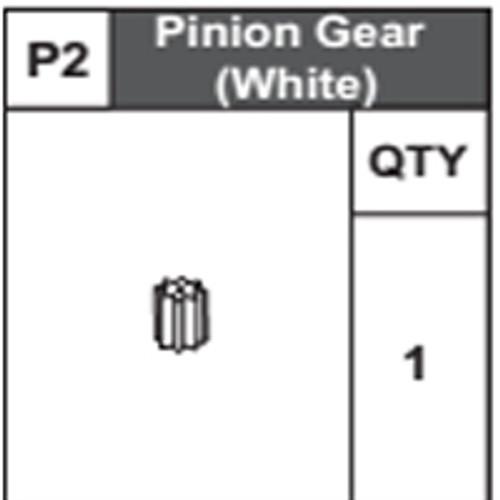 02-68300P2 Pinion Gear (White)