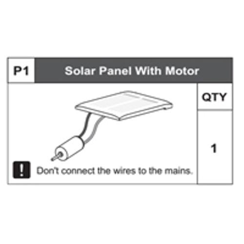 0168200P1 Solar Panel With Motor