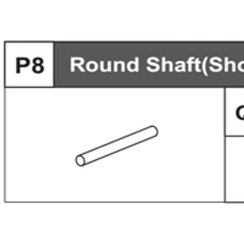 08-68200P8 Round Shaft (Short)