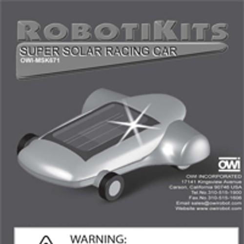 Super Solar Racing Car Instruction Manual