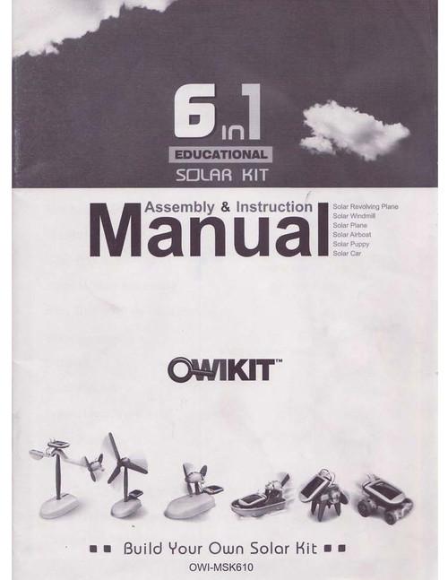 6 in 1 Educational Solar Kit Manual